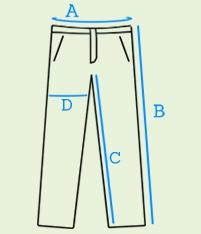 Jogger mėlyni džinsai vyrams P174M