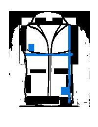 Mėlyna languota vyriška kostiuminė liemenė stilingam įvaizdžiui V49 13349