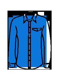 Mėlyni-balti gėlėti vyriški marškiniai trumpomis rankovėmis K473 13470