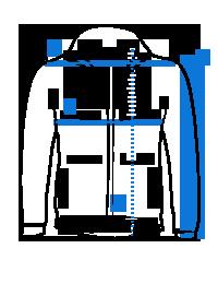 Tamsiai mėlyna rudeninė vyriška striukė C448 16014