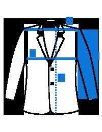 Mėlynas vyriškas švarkas M96 12128