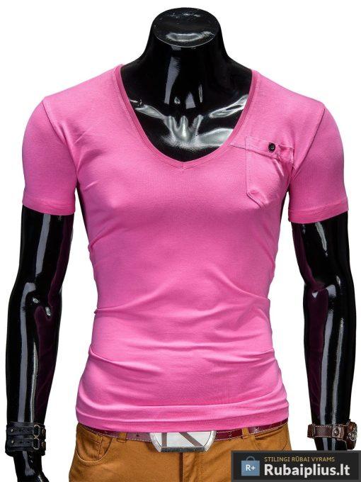 Ryškiai rožiniai vyriški marškinėliai internetu pigiau Deep S210