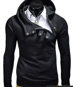 Juodos spalvos vyriškas džemperis su gobtuvu internetu pigiau Paco