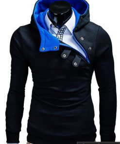 Juodos-mėlynos spalvos vyriškas džemperis vyrams su gobtuvu internetu pigiauPaco