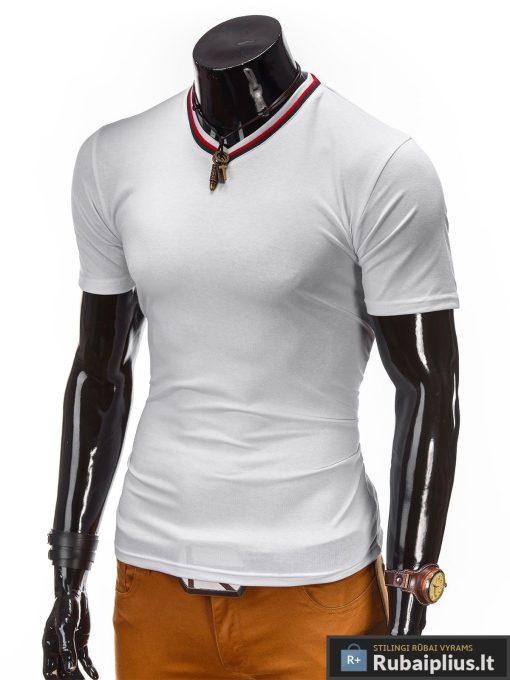 stilingi baltos spalvos vyriški marškinėliai internetu pigiau