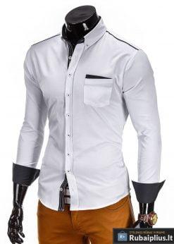 Stilingi balti Vyriški Marškiniai vyrams internetu pigiau