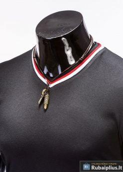 stilingi Juodos spalvos vyriški marškinėliai internetu pigiau
