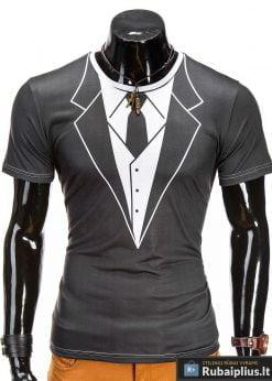 Stilingi vyriški marškinėliai su kostiumo imitacija