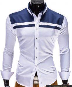 """Baltos spalvos marškiniai vyrams """"Marcus"""""""