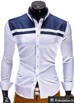 Baltos spalvos marškiniai vyrams