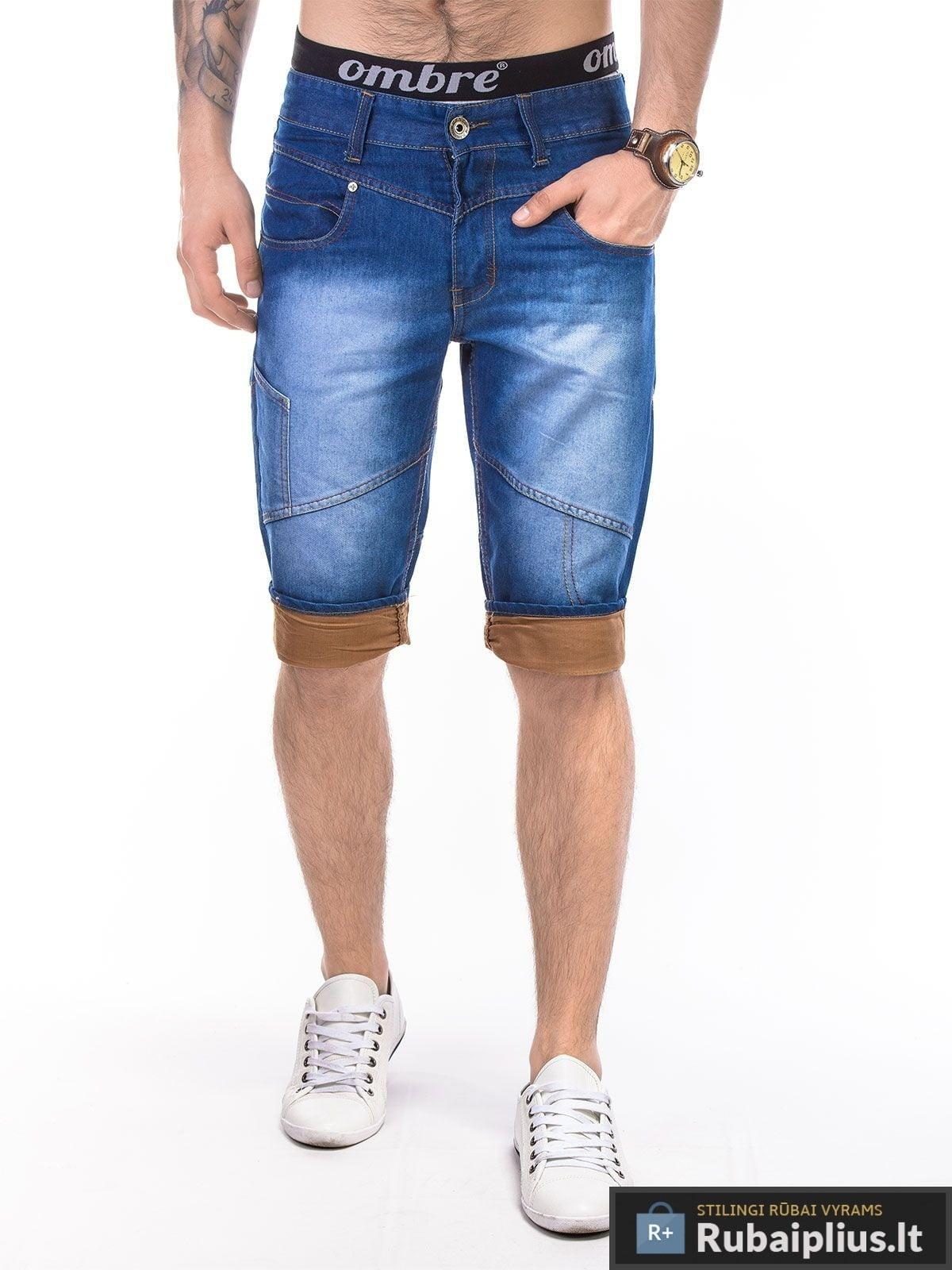 Vyriški džinsiniai šortai vyrams internetu