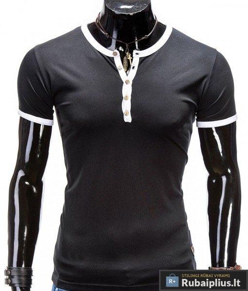 Juodi vyriški marškinėliai Sea