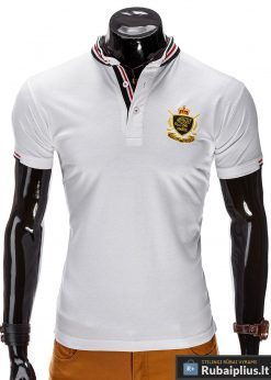 Balti vyriški marškinėliai vyrams polo internetu pigiau Ombre S509