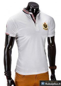 Stilingi balti vyriški marškinėliai polo internetu pigiau