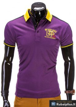 Polo violetiniai vyriški marškinėliai vyrams internetu pigiau Up S508