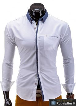 Baltos spalvos vyriški marškiniai Bowen