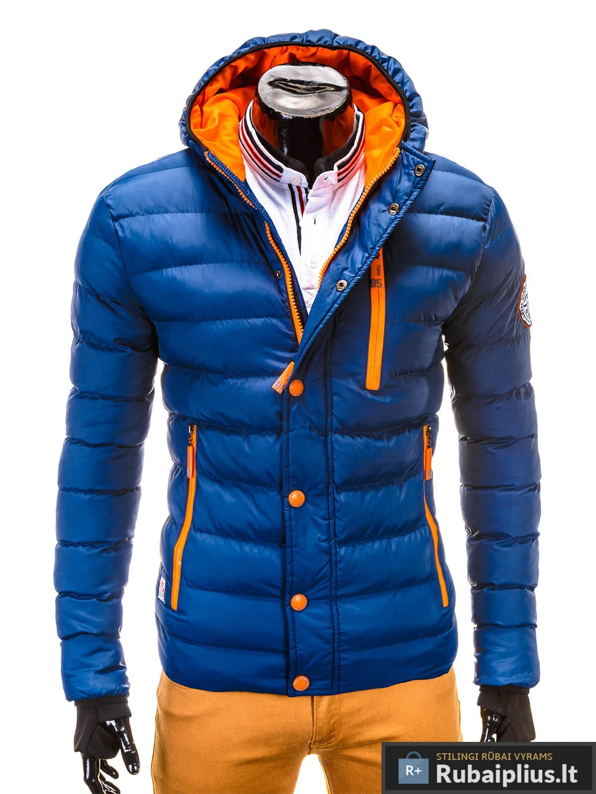 tamsiai mėlyna žieminė vyriska striuke, mėlynos spalvos striuke vyrams, vyriskos striukes internetu, stilinga vyriška striukė, vyriška striukė žiemai, madingos vyriškos striukės internetu, žieminės striukės, žieminė striukės, originalios striukės, aukštos kokybės, nuolaida, akcija, aukšta kokybė, greitas pristatymas, apmokėjimas gavus preke