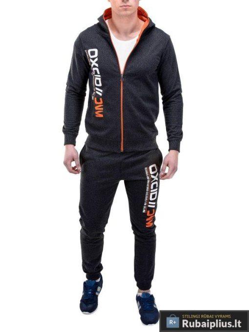 Tamsiai pilkas sportinis kostiumas Oxcid