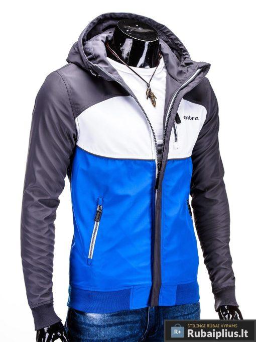 Pilka-mėlyna pavasarinė vyriška striukė vyrams internetu pigiau C97TP dešinė