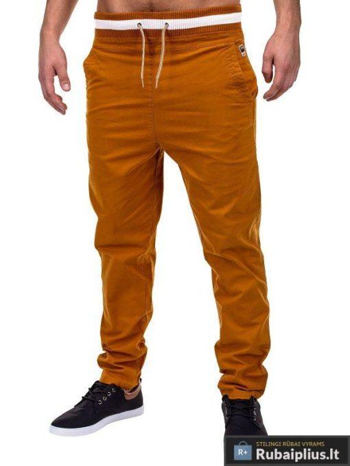 Vyriškos rudos spalvos laisvalaikio kelnės internetu pigiau Glover P155