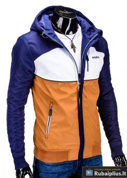 Mėlyna-ruda pavasarinė vyriška striukė vyrams internetu pigiau C97R dešinė