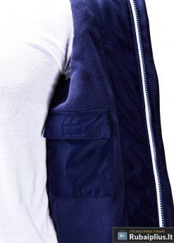 Mėlyna-ruda pavasarinė vyriška striukė vyrams internetu pigiau C97R vidus