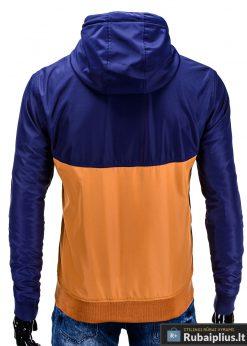Mėlyna-ruda pavasarinė vyriška striukė vyrams internetu pigiau C97R nugara