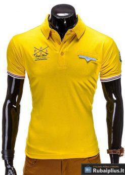 Polo stiliaus geltonos spalvos vyriški marškinėliai vyrams internetu pigiau Polo S510