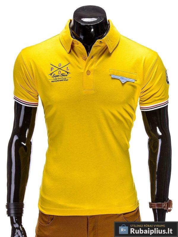 Geltonos spalvos marskineliai polo