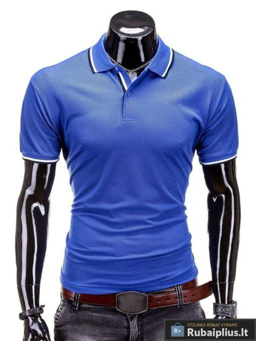 """Mėlynos spalvos polo marškinėliai """"York"""""""