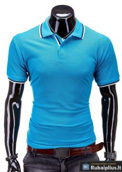 Klasikiniai vyriški polo marškinėliai turkio spalvos vyrams internetu pigiau York S516