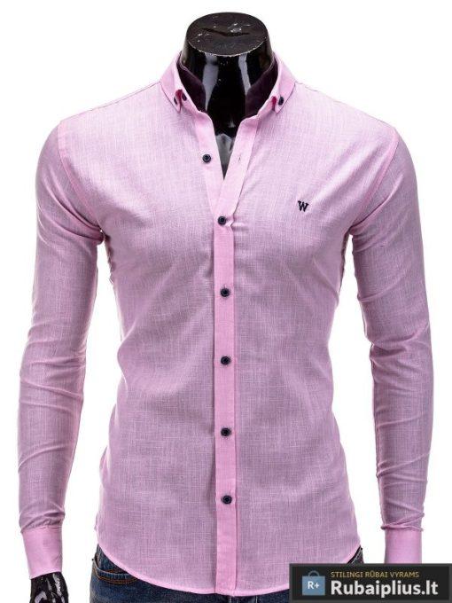 Rožinės spalvos vyriški marškiniai internetu