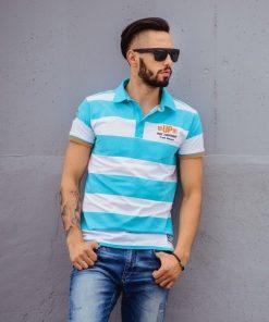 Mėlynos spalvos marškinėliai vyrams internetu pigiau Murano S511
