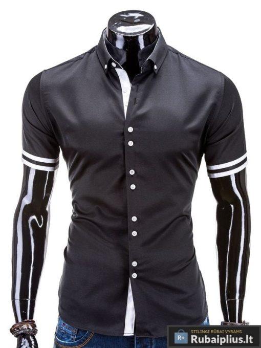 Stilingi marškiniai vyrams trumpomis rankovėmis