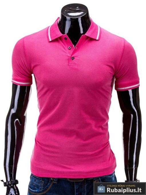 Rožinės spalvos polo marškinėliai vyrams internetu pigiau York S539