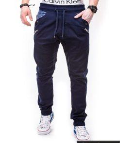 Tamsiai mėlynos vyriškos kelnės jogger Remus P301