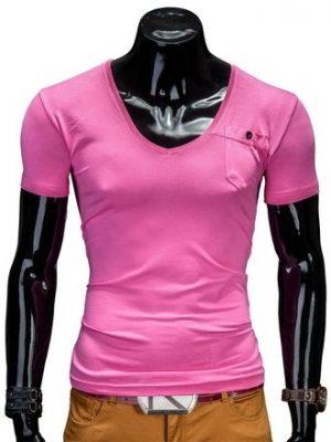 Rožiniai marškinėliai vyrams Deep