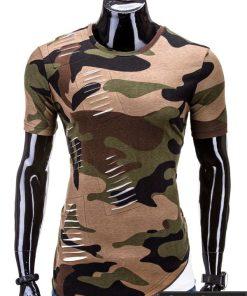 Asimetriški vyriški kamufliažiniai marškinėliai internetu pigiau GF S547