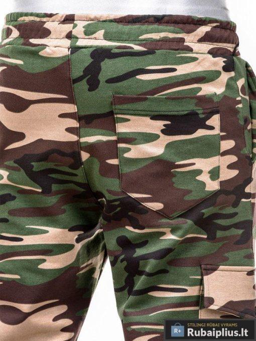 """madingi kamufliažiniai vyriški šortai vyrams bridžiai """"Grant"""" internetu pigiau P335"""