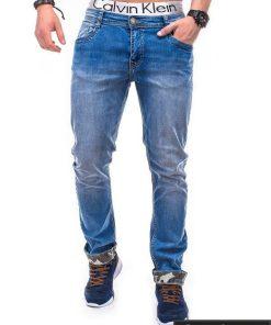 Mėlyni džinsai vyrams internetu pigiau Den P347