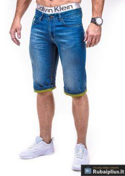 Mėlyni vyriški džinsiniai šortai internetu Stegol P379