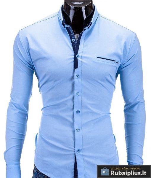 Šviesiai mėlyni marškiniai