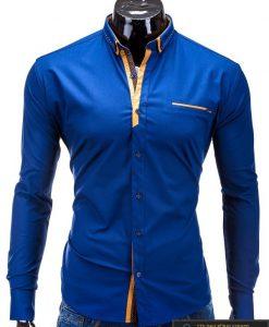 Marškiniai tamsiai mėlynos spalvos