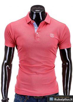 Koralų spalvos vyriški marškinėliai