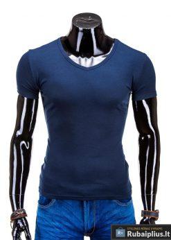 Tamsiai mėlyni marškinėliai vyrams internetu pigiau Stegol S605