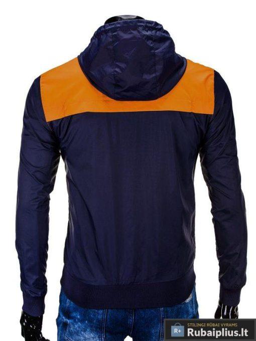 Ruda-tamsiai mėlyna vyriška striukė vyrams internetu pigiau C201R nugara