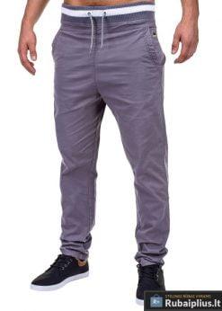 Vyriškos pilkos spalvos laisvalaikio kelnės internetu pigiau Glover P155