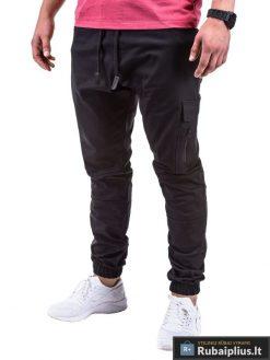 Vyriškos juodos spalvos kelnės