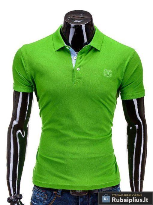 žalios spalvos polo marškinėliai vyrams internetu pigiau S594