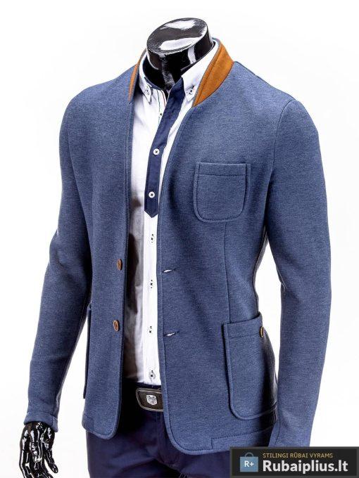 džinsinės spalvos vyriškas švarkas, laisvalaikio švarkas vyrams, švarkas vyrams internetu, vyriški švarkai internete, klasikiniai švarkai vyrams, švarkai internetu